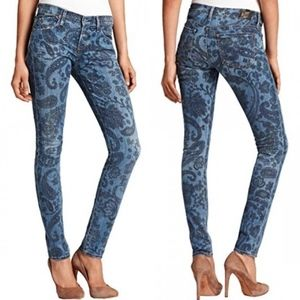 COH Avedon Paisley Low Rise Skinny Jeans 30x31